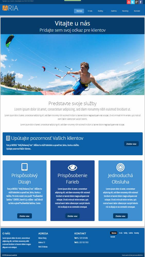 Web Šablóny  Moderné a prakticé dizajny pre Vaše web stránky e0db7e742f4